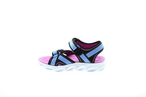 Skechers Mädchen Hypno Splash Zooms Sandalen, Schwarz (Blue & Black Textile/Fuschia Trim Bkbl), 35 EU