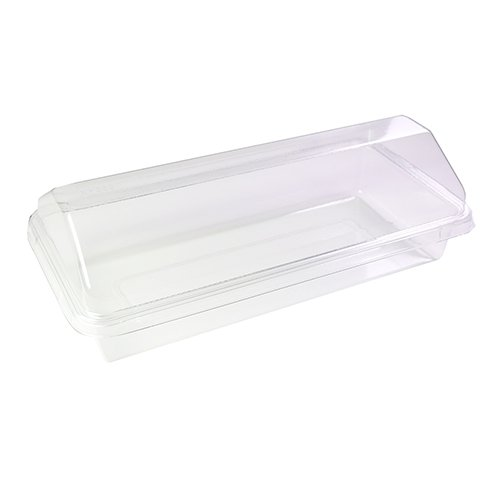 50/100 FBA Free All Clear Rectangle With Clear Dome Lid Cake Food Storage Container (50)
