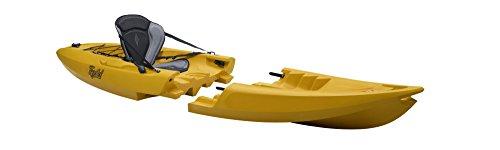 Point65 Tequila Solo GTX Sit on Top Kajak Kanu Modulbauweise Tolles Angelkajak, Farbe:Gelb, Ausstattung:Mit Airsitz