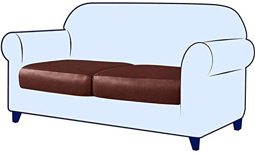 JIAYOUFC Sofa Slipcovers Spandex Elastic PU Leather Couch Stretch Water-Proof Patio Durable Cushion Slipcovers Furniture Protector Slip Cover for Settee Sofa Seat for Replacement In Living Room (Or