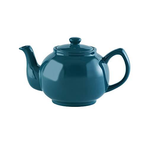 Price & Kensington, 6 Tassen Teekanne, Steingut, dunkelblau, glänzend