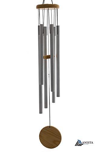 ANISTA-Klangspiel (95) großes Klangspiel mit sechs Klangröhren rostfrei Windspiel für draußen Metall