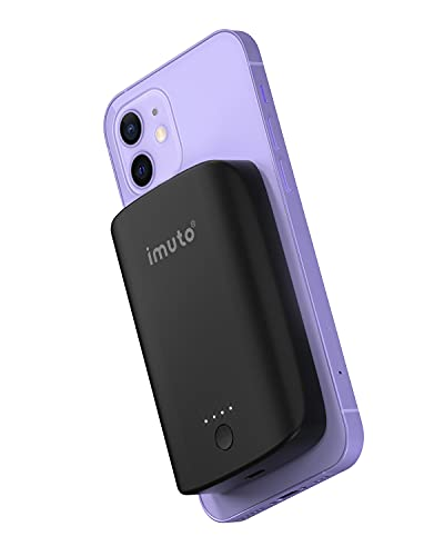 imuto Magnetico Power Bank Wireless 5K, 15W Mag-Safe Powerbank Caricabatterie Portatile senza fili Compatibile con iPhone 12/12 Mini/12 Pro/12 Pro Max, iPhone 13 Pro/iPhone 13 Pro Max