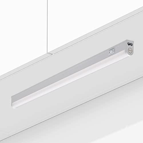 Oktaplex Lighting Unterbauleuchte Küche LED | Riga 9W Unterbaubeleuchtung mit Schalter | warmweiß 3000K erweiterbar | Länge: 54cm