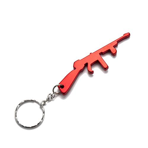 Komonee Maschinenpistole rot Flaschenöffner Schlüsselring