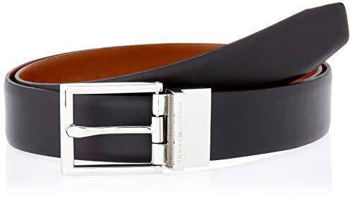 Tommy Hilfiger Formal Rev 3.5 Cinturón, Negro/Coñac, 105 para Hombre