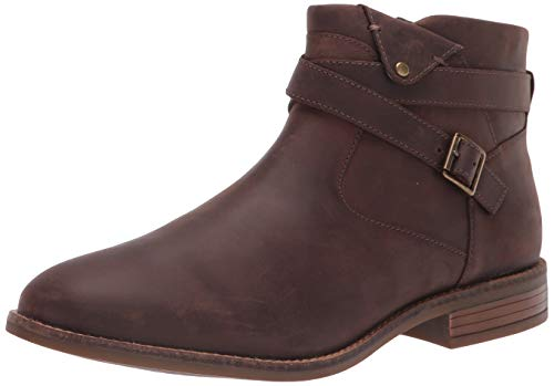 Clarks Women's Camzin Dime Ankle Boot, Dark Brown Leather, 11