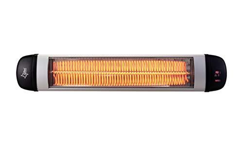 Klimatronic Heat Ray 3000 Outdoor Calefactor Radiante Carbono para Terraza, Negro