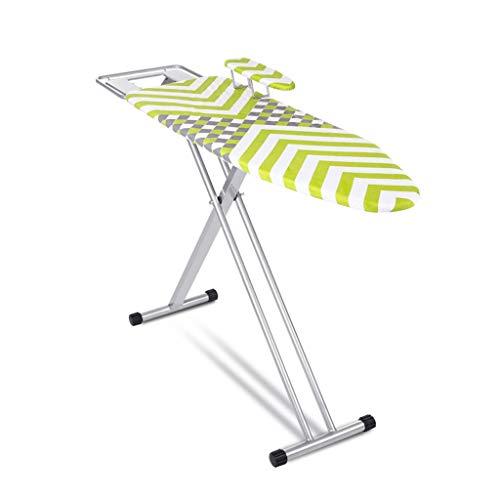 Planche À Repasser Ménage Grand Support De Repassage Planche De Fer Stable Réglable En Hauteur Table à repasser (Color : Green, Size : 122x38x(70-100) cm)