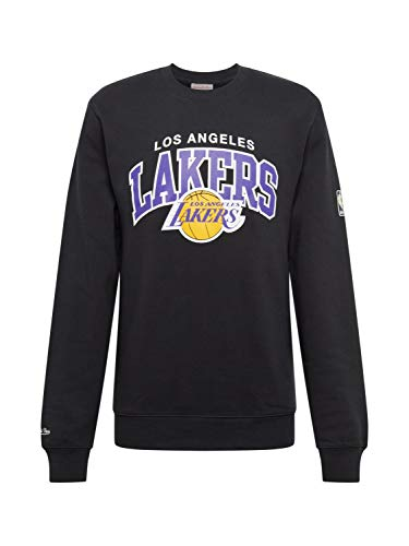 Mitchell & Ness Los Angeles Lakers HWC Arch Logo Crewneck Black NBA Sweater Pullover Herren Men