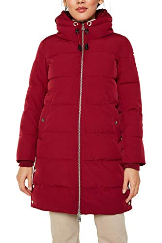 ESPRIT Damen 119EE1G014 Mantel, Rot (Dark Red 610), Medium (Herstellergröße: M)