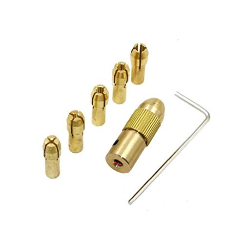 7pcs Mini Brass taladro tirada de collar eléctrico amoladora auto-apriete Micro Fresa...