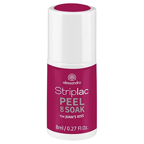 alessandro Striplac Peel or Soak Juan's Kiss – LED-Nagellack in dunklem Lila – Für perfekte Nägel in 15 Minuten – 1 x 8ml