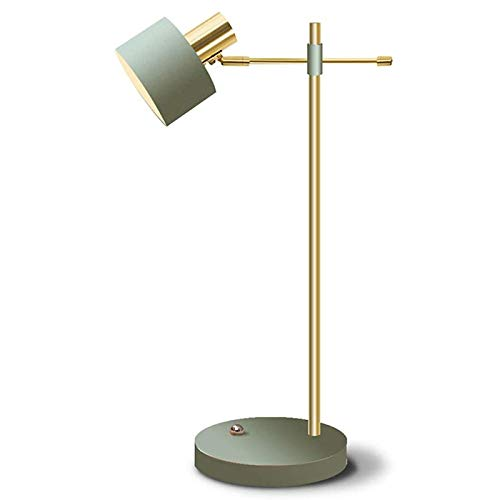 WEUN Lámpara de Escritorio Minimalista Moderna, lámpara de Escritorio de atenuación de Metal con Interruptor táctil Ajustable Tres Niveles de Brillo