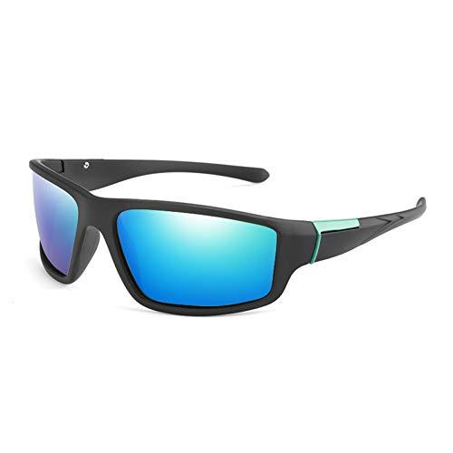 Shihuam zonnebril, gepolariseerd, sportieve zonnebril, UV400, winddicht, voor mannen en vrouwen, vissen, retro-zonnebril