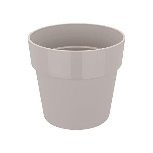 Elho B.for Original Rond Mini 7 - bloempot - warm grijs - binnen - Ø 6,6 x H 6,1 cm