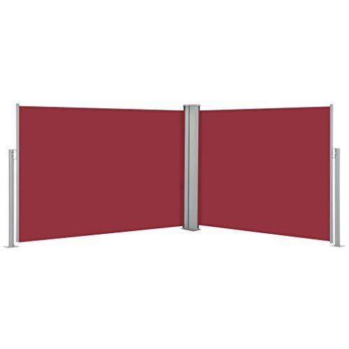 FAMIROSA Toldo Lateral retráctil Rojo 120x1000 cm