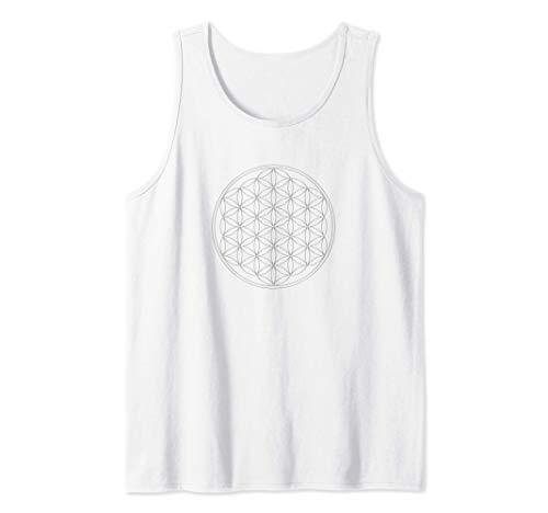 Flor de la vida, Sacred Geometrie, Yoga, Salud, Protección Camiseta sin Mangas