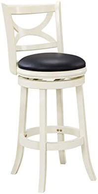 Boraam Florence Bar Height Swivel Stool 29 Inch Distressed White product image