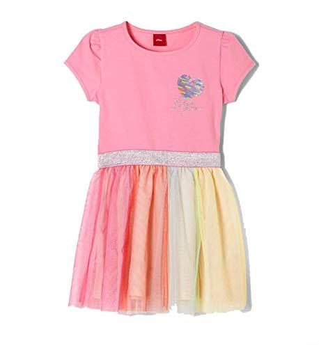s.Oliver Junior Mädchen 403.10.004.20.200.2037950 Kinderkleid, 4404 pink, 122/REG