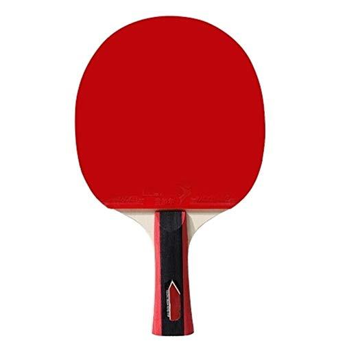 BTTNW Paleta De Ping Pong Tabla de Pendientes Bats Raquetas Tabla Tenis 2 Juego de Jugadores Se Dan La Mano Grips (Color : Red, Size : One Size)