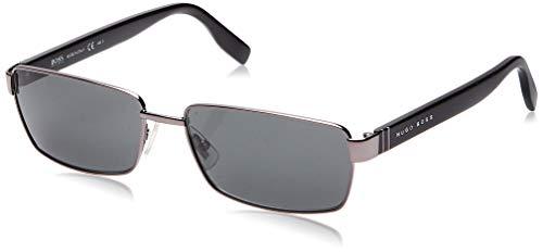 Hugo Boss Herren BOSS 0475/S P9 V81 Sonnenbrille, Schwarz (Dkruth Black/Grey), 58