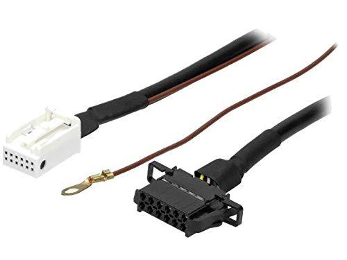Cable Autoradio compatible avec changeur CD Quadlock 12pin vers 12pin compatible avec Audi VW 1.8m
