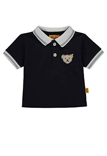 Steiff Steiff Baby-Jungen 1/4 Arm Poloshirt, Blau (Marine|Blue 3032), 80