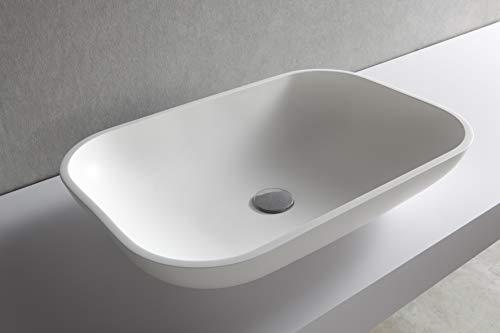 Lavabo sobre encimera Blanco de Solid Surface-SPA-287,40€
