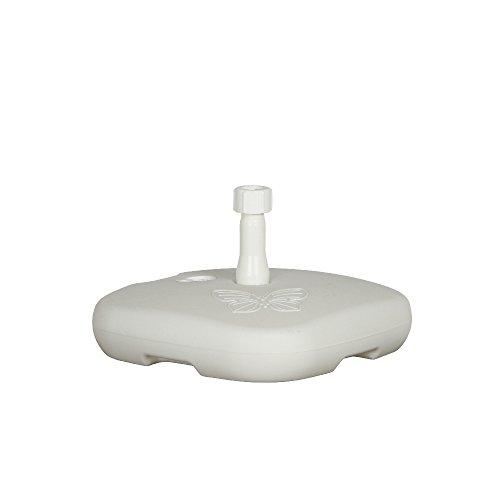 Ipae-Progarden Base Support de Parapluie, Blanc, Plastique, 44 x 44 x 12 cm
