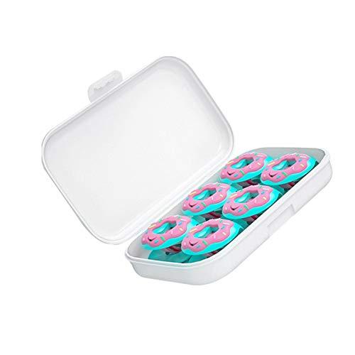 Teeyyui Juego de 6 clips de funda de edredón, sin agujas, forma de donut, con alta elasticidad, agarre antideslizante y anti-moverse para sábanas y cortinas (D)