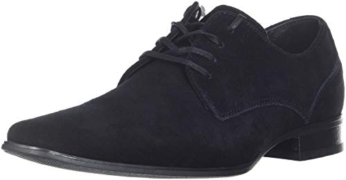 Calvin Klein Men's Brodie Oxford Shoe, Black Calf Suede, 8 M US