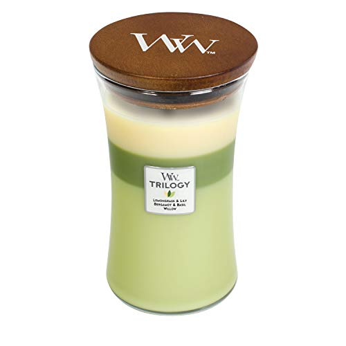 candele profumate woodwick offerte WoodWick Trilogy candela profumata a clessidra grande con Pluswick Innovation