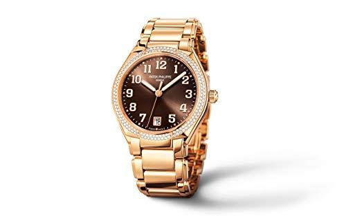 Patek Philippe Twenty4 Rose Gold 7300-1200R-001 with Brown Sunburst dial