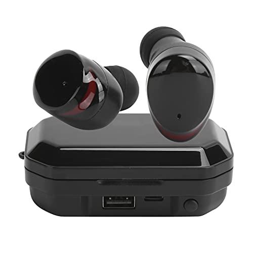 Auriculares inalámbricos Bluetooth 5.0, TWS Auriculares Bluetooth Auriculares con sonido estéreo con indicador de batería LED Auriculares con control táctil Cabina de cierre por inducción(negro)