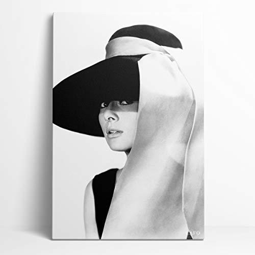 Conmemorar Audrey Hepburn Posters Decoración de pared de regalo 12'X18' Las 50 estrellas de cine más influyentes en la historia de Hollywood Audrey Hepburn Dormitorio decorativo