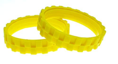 EPIEZA NEUMÁTICOS Amarillos. Ruedas para IROBOT ROOMBA Series 500, 600, 700, 800 Y 900 (Pack 2 Unidades) Fabricado en España Antideslizante, Gran adherencia y fácil Montaje