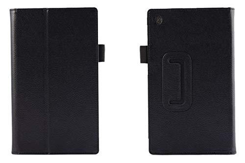 RZL Pad y Tab Fundas para Lenovo Tab 2 A7 20 10, Cuchillo DE LA Tabla DE Tablet Cubierta DE Cuero DE Moda para Lenovo Tab 2 A7-10 A7-10F A7-20 A7-20F Tab2 A7 20 10 (Color : For Bracket Black)
