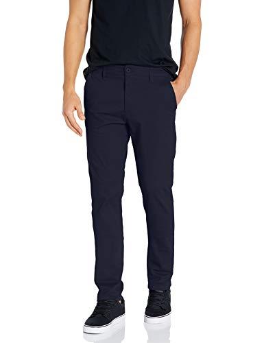 Southpole Men's Flex Stretch Basic Long Chino Pants, New Navy (New), 38X32