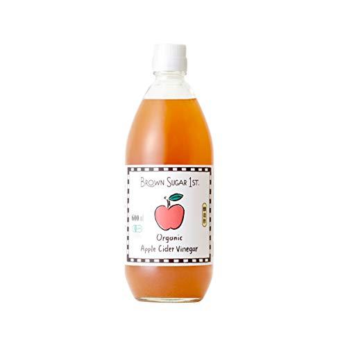 オーガニック アップルサイダービネガー 600ml (有機 りんご酢 無添加 100% 天然 ブラウンシュガーファースト)