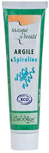Ciel d'Azur Masque de Beauté Cosmébio Argile-Spiruline 100 ml - Lot de 2