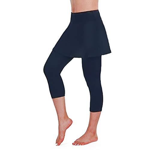 KEERADS Skapri Jupe 2 en 1 Legging de Compression avec Jupette Convient pour Tennis, Yoga, Pilates, l'entraînement et Course à Pied pour Filles & Femmes