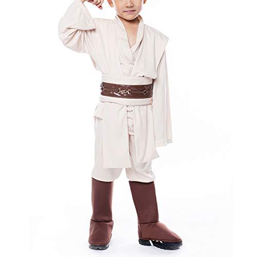 Jedi 、 Jedi Knight Cosplay Trajes de Disfraces para Navidad, Cosplay de Anime, cumpleaños (con Espada Brillante)