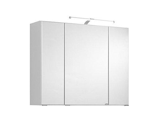 Held Möbel Portofino Spiegelschrank, Weiß, 80 x 66 x 20 cm