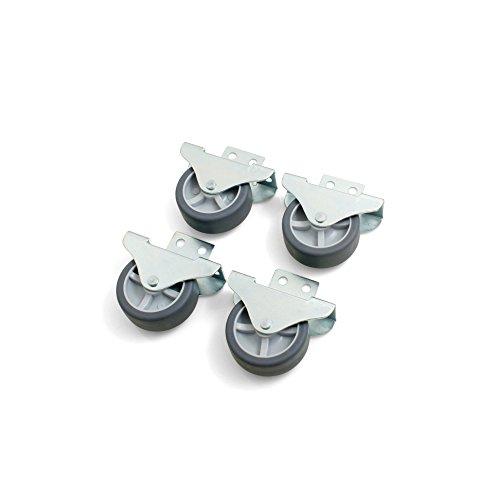 Design61 4x Kastenbockrolle Bettkastenrolle Möbelrolle Möbelrollen Seitlich anschraubbar Rolle 50x19 mm mit weicher Lauffläche