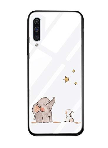 Suhctup Carcasa de Cristal Templado de Dibujos Lindo Compatible con Samsung Galaxy...