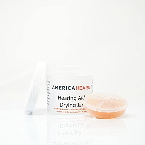 America Hears Hearing Aid/Amplifier Dry Jar and Dehumidifier (Removes Moisture and Protects Components)