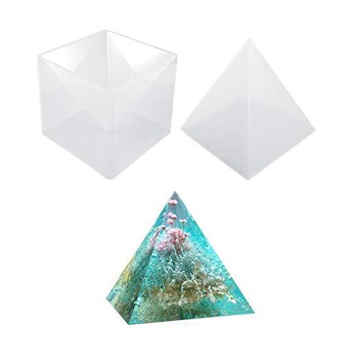 Resina Epoxi Transparente de Bricolaje Pirámide Marco para Manualidades en Resina Pirámide DIY Pirámide de Silicona Molde de Resina para Hacer Joyas Piramidal de Joyería de Resina de Silicona