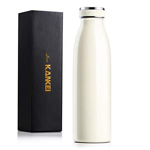 Love-KANKEI Water Bottle Vacuum Insulated Bottle 500ml/24hrs Cold -...