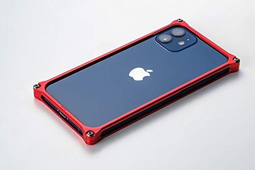 GILD design GI-429R 43181 Solid Bumper iPhone 12mini Case, Duralumin Shaving, Made in Japan, Red